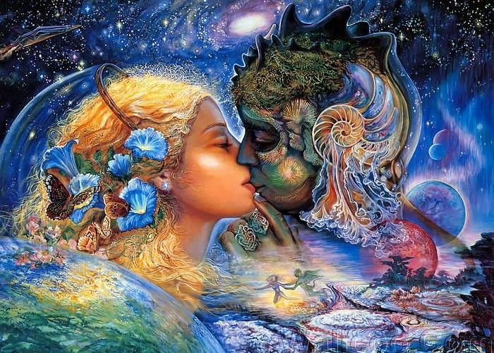 любовь, поцелуй
